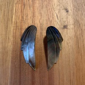 Pair of Vintage Shell Wing Earrings